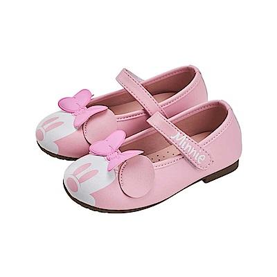 迪士尼童鞋 米妮 魔鬼氈公主娃娃鞋-粉