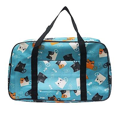 【時時樂限定】DF Queenin - 旅遊馬上走!超輕超大容量可掛行李桿旅行袋-共7色