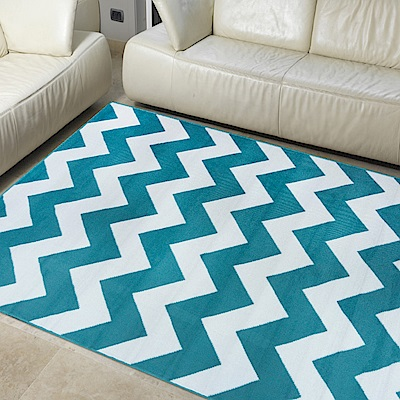 Ambience 比利時Shiraz 時尚地毯-波紋藍 160x230cm