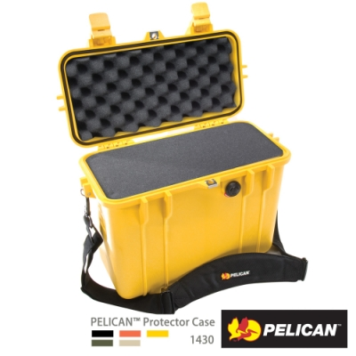 美國 PELICAN 1430 氣密箱-含泡棉(黃)
