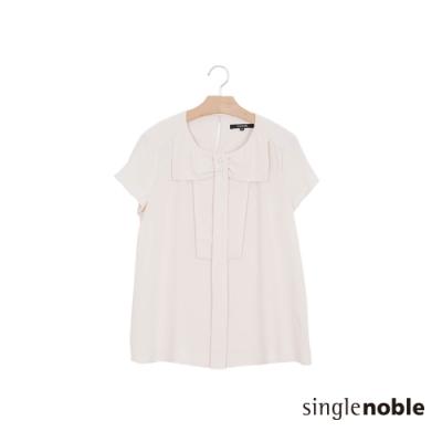 獨身貴族 優雅蝴蝶結短袖設計上衣(1色)
