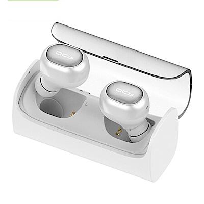 QCY T1 雙耳 立體聲 藍牙 5.0 真無線 耳機 白色款