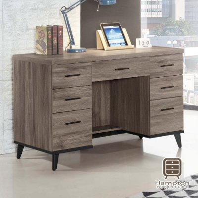 漢妮Hampton羅瑞爾系列古橡色4尺書桌-120x59x80.9