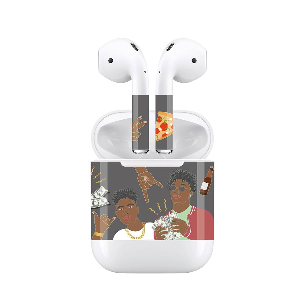 mogen AirPods 隨身耳機保護貼 街頭黑人款