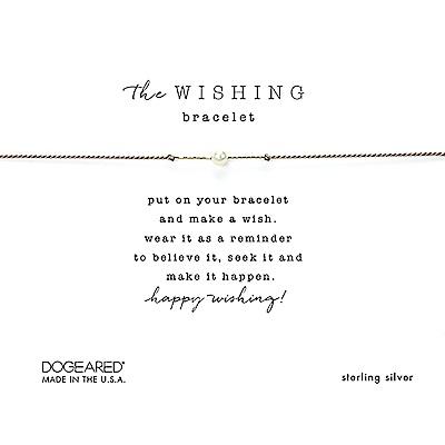 Dogeared Wishing 閃亮星辰豆豆手鍊 幸運珍珠手鍊 銀色X灰色 附原廠盒