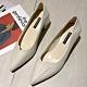 KEITH-WILL時尚鞋館 女人話題典雅素面跟鞋-米 product thumbnail 1