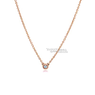 Tiffany&Co.0.03克拉鑽石18K玫瑰金項鍊