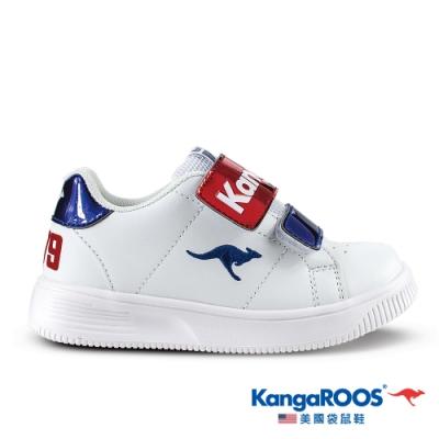 KangaROOS 童 FLASH 經典小板鞋1979(白/藍/紅-KK01346)