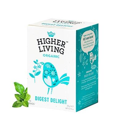699免運-英國HIGHER LIVING 消化解膩有機茶包15包共22g