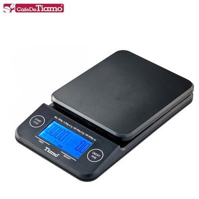 Tiamo KS-900專業計時電子秤 2kg 藍光-黑色款(HK0513-1BK)
