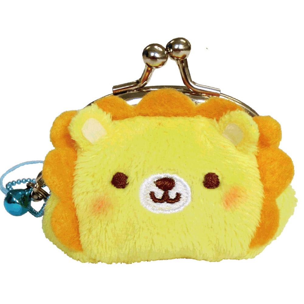 動物樂園迷你珠扣零錢包 。小獅子  UNIQUE