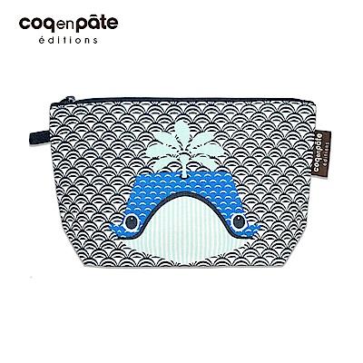 【COQENPATE】法國有機棉無毒環保化妝包 / 筆袋- 畫筆兒的家 - 鯨魚