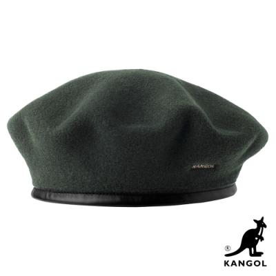 KANGOL-WOOL MONTY貝蕾帽-墨綠色