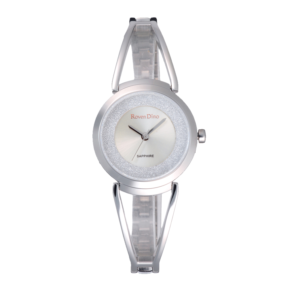 Roven Dino羅梵迪諾 璀璨奢華時尚女錶-銀(RD738S-336)-29mm