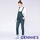 Gennies奇妮-自在率性孕婦吊帶長褲-藍(TJH01) product thumbnail 1
