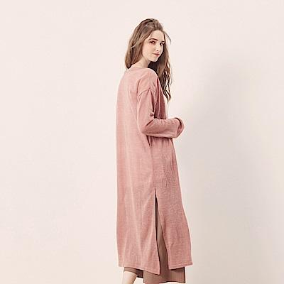 CACO-泡泡袖針織長罩衫(五色)-女【NCH128】