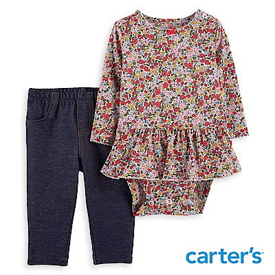 Carter's 荷葉碎花二件組套裝