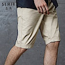 SEMIR森馬-100%棉純色舒適休閒五分短褲-男(2色)