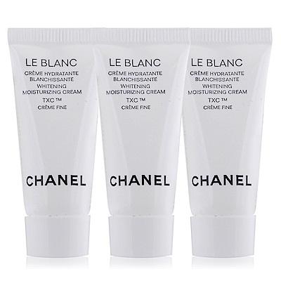 (即期品)CHANEL 香奈兒珍珠光感TXC美白保濕乳霜-輕盈版5mlX3期效201903