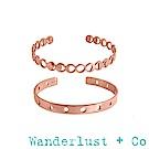 Wanderlust+Co 月亮手環組 - 玫瑰金色