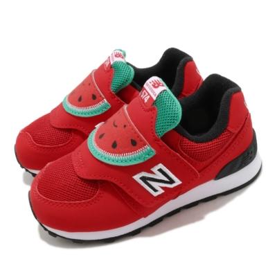New Balance 休閒鞋 574 Wide 寬楦 運動 童鞋 紐巴倫 魔鬼氈 西瓜造型 小童 穿搭 紅 綠 IV574FRRW