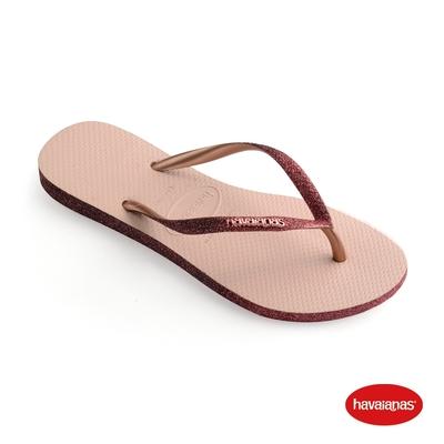 Havaianas哈瓦仕 拖鞋 亮片 夾腳拖 人字拖 巴西 女鞋 芭蕾粉 4146093-0076W Slim Sparkle