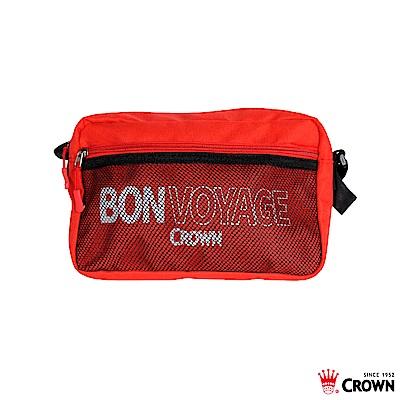 CROWN 皇冠 BONVOYAGE 郵差包 紅色
