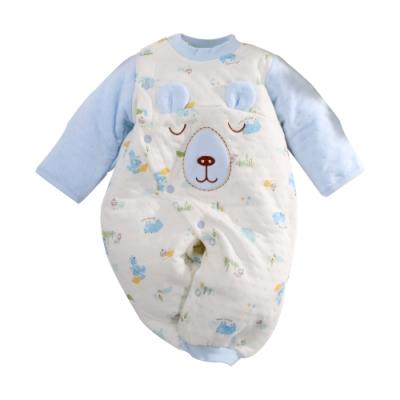 台灣製三層棉厚款護手護腳兩用兔裝 魔法Baby