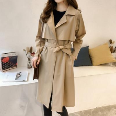 初色  中長款氣質大衣外套-共2色-(M-2XL可選)