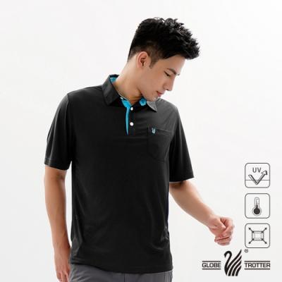 【遊遍天下】MIT男款抗UV機能薄款POLO衫GS10026黑色