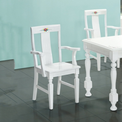 MUNA 亞諾白色餐椅(不含餐桌)單只 51X49X85cm