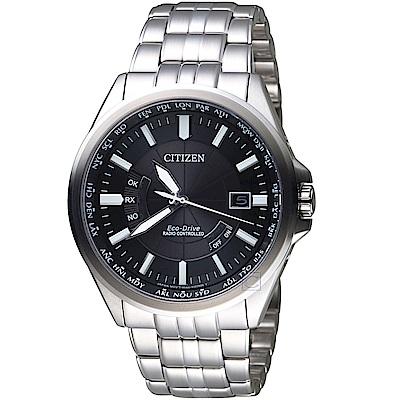 (無卡分期6期)星辰CITIZEN世界城市光動能電波腕錶(CB0180-88E)