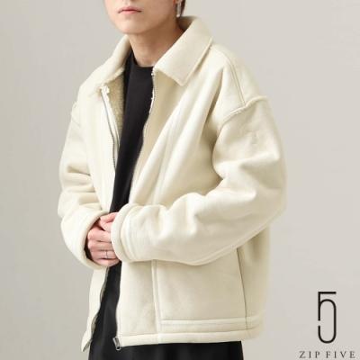 ZIP日本男裝 仿羊毛皮BOA絨毛飛行夾克 (3色)