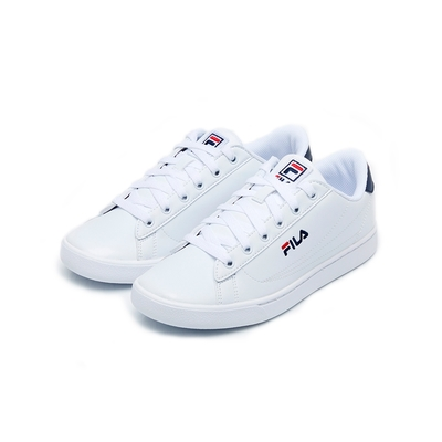 FILA COURT ACE 中性運動鞋-白/藍 4-C621V-147