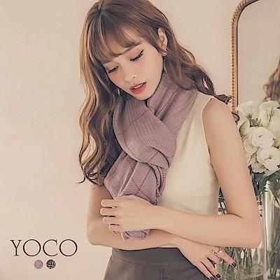 東京著衣-yoco 韓妞最愛質感格紋圍巾(共二色)
