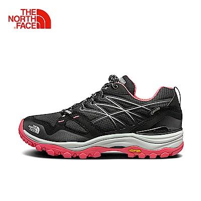 The North Face北面女款粉色防水透氣徒步鞋