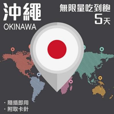 【PEKO】沖繩上網卡 5日高速4G上網 無限量吃到飽 優良品質高評價