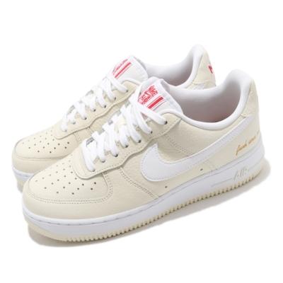 Nike 休閒鞋 Air Force 1 07 PRM 男鞋 基本款 簡約 皮革 穿搭 爆米花 質感 白 黃 CW2919100