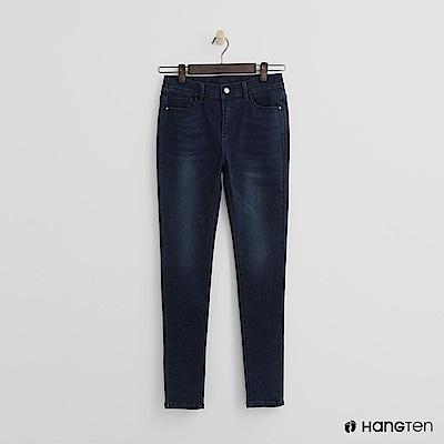 Hang Ten - 女裝 -經典刷色微彈牛仔褲-深藍