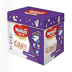 好奇白金新生禮盒(S紙尿褲52片x1包+M紙尿褲52片x1包+溼巾64抽X3包)