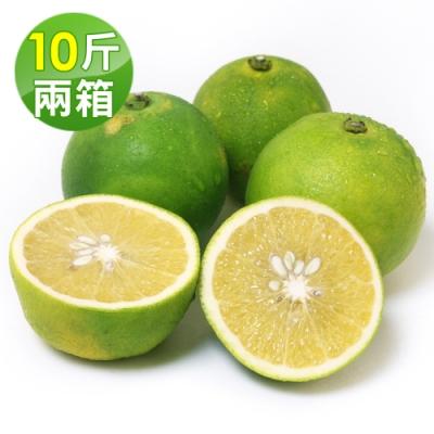 愛上水果 台灣雞蛋柳丁*2箱(10斤/約60-70顆/箱)