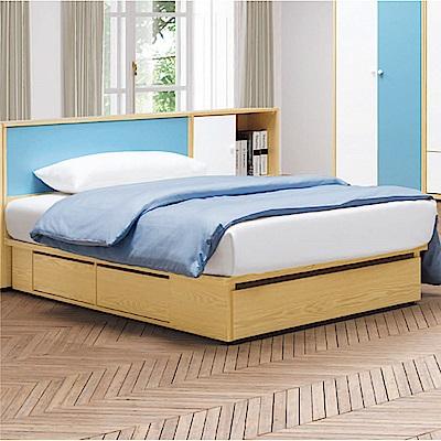 文創集 波利爾3.5尺單人床台組合(不含床墊&邊櫃)-106x218x84.5cm免組