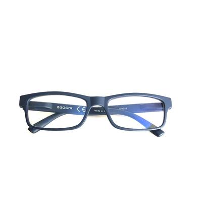 [時時樂限定] Z·ZOOM 老花眼鏡/平光眼鏡 抗藍光防護系列-時尚矩形粗框款 3款任選1