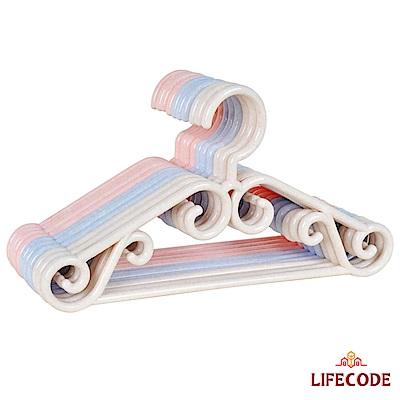 LIFECODE 兒童音符衣架(10入)3色隨機