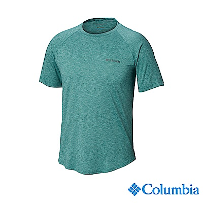 Columbia哥倫比亞 男款-UPF50快排短袖上衣-綠色 UAE06530GR