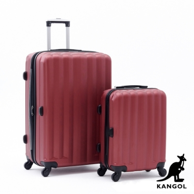 DF travel - 英國袋鼠海岸線系列ABS硬殼拉鍊20+28吋兩件組行李箱