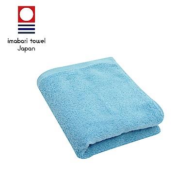 日本今治 輕柔蓬鬆無撚紗素色毛巾(天空藍)