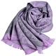 GUCCI SC NEW STEN GG LOGO羊毛雙面寬版披肩/圍巾(灰/淺紫) product thumbnail 1