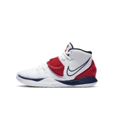 NIKE KYRIE 6 (GS) 大童籃球鞋-白紅-BQ5599102
