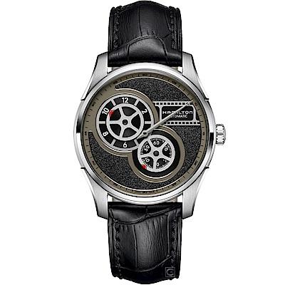 (無卡分期12期)Hamilton Jazzmaster 電影膠捲盤機械錶(H42605731)